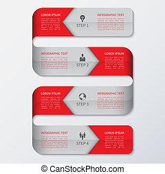 infographics, modern, optionen, geschaeftswelt, banner.