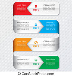 infographics, moderno, opzioni, affari, banner.