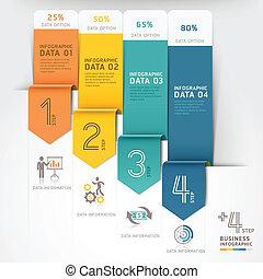 infographics., negócio, seta