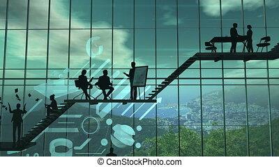 Infographics of business success development