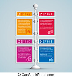 Infographics options banners. Vector illustration