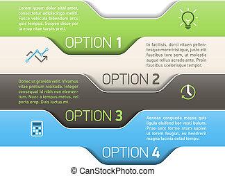Infographics options - Design template