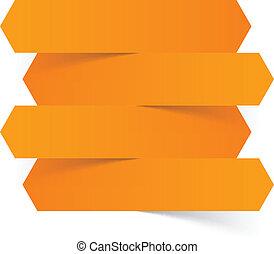 Infographics orange paper design.