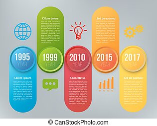 infographics, passi, opzioni, o