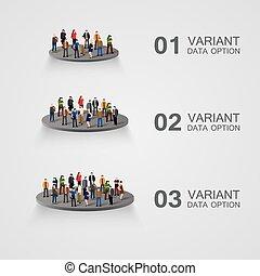infographics., pessoas negócio
