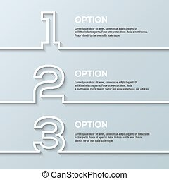 Infographics process template with set of numbers made in white line.