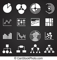 Infographics related icons set on background for graphic and web design. Simple illustration. Internet concept symbol for website button or mobile app.