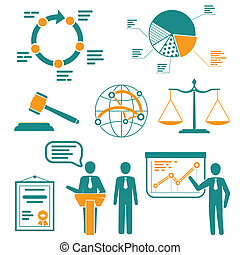 Infographics set, presentation and information elements, signs, icons