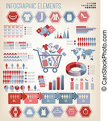 infographics., shopping, vector.