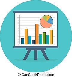Infographics, statistics, data concept. Flat design.