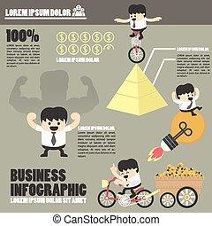 infographics, sucesso, negócio