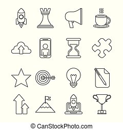 infographics template icons
