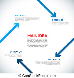 Infographics template with arrows.