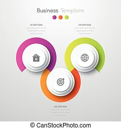 infographics three options