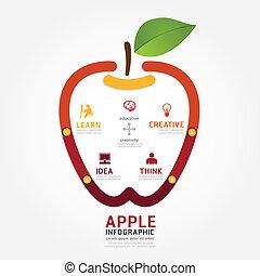 infographics vector apple brain design diagram line style timeli