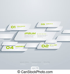 Infographics vector design template: moving cells. Creative concept.