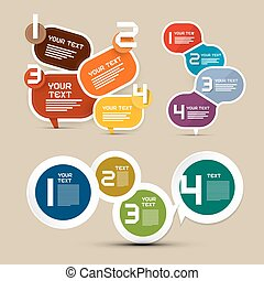 Infographics Vector Layout with Paper Labels - Tags