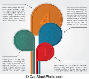 infographics, vector, opciones, banner.