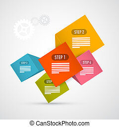 infographics, vektor, foranstaltninger, fremmarch,...