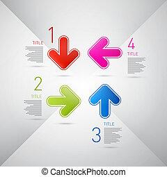 infographics, vetorial, passos, progresso, tutorial