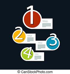 infographics, wektor, kroki, postęp, wychowawczy