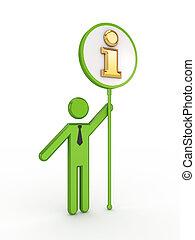 információs anyag, személy, jelkép., 3, kicsi
