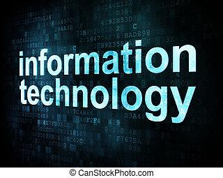 informática, concept:, pixelated, palabras, informática, en,...