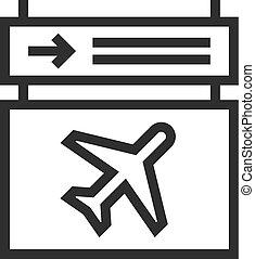 informação, aeroporto, scoreboard