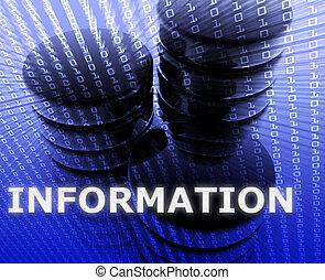informação, armazenamento de dados