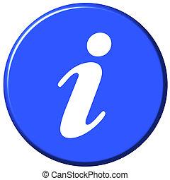 informação, botão
