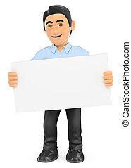 informação, cartaz, em branco, técnico, tecnologia, 3d