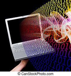informação, computador