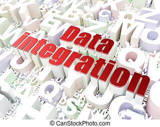 informação, concept:, dados, integração, ligado, alfabeto, fundo