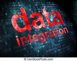 informação, concept:, dados, integração, ligado, experiência digital