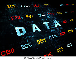 informação, concept:, dados, ligado, experiência digital