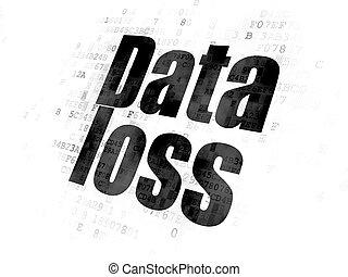 informação, concept:, dados, perda, ligado, experiência digital