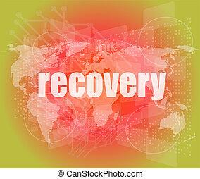 informação, concept:, palavra, recuperação, ligado, experiência digital