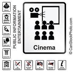 informação, entretenimento, sinais