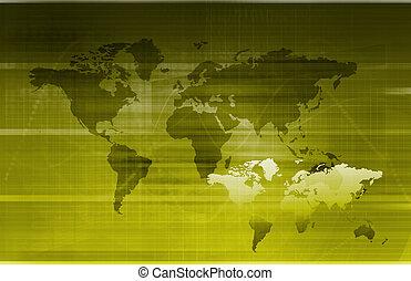 informação, global, tecnologia