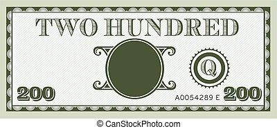 informação, image., espaço, dinheiro, conta, dois, texto, adicionar, vector., cem, seu