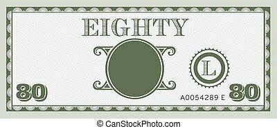 informação, image., espaço, dinheiro, conta, oitenta, texto, adicionar, seu