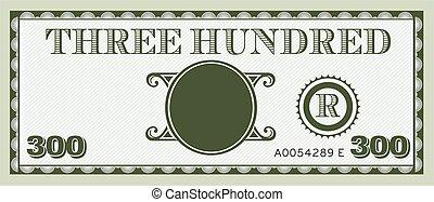 informação, image., espaço, dinheiro, conta, três, texto, adicionar, cem, seu