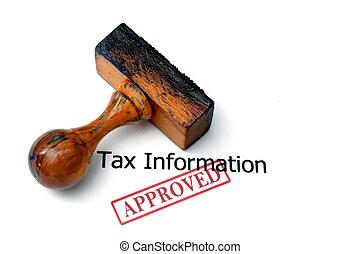 informação, imposto, -, aprovado