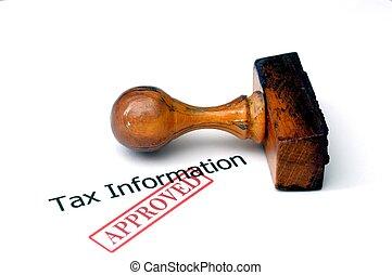 informação, imposto, aprovado