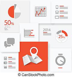 informação, infographic, desenho, tábua, modelo