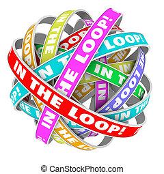 informação, informado, volta, conhecimento, compartilhar