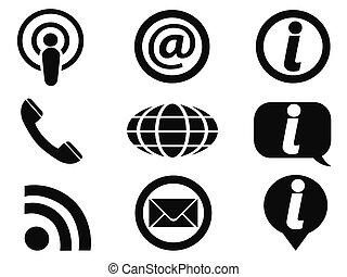 informação, jogo, ícones