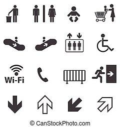 informação, jogo, público, ícones