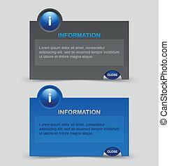 informação, notificação, janelas