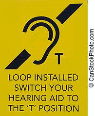 informação, ouvindo, público, volta, sinal